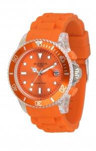 Armbanduhr Orange Silikon Madison Candy Time® Flash U4399-04