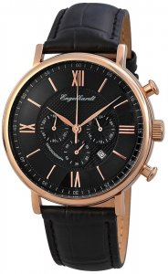 Armbanduhr Schwarz Rosé Leder Engelhardt 387531029002