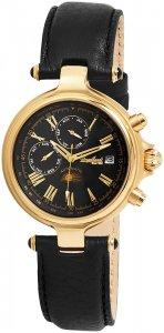 Armbanduhr Schwarz Gold Leder Engelhardt 385701029028