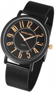 Armbanduhr Schwarz Rosé Metall Excellanc 2300002