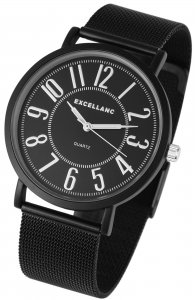 Armbanduhr Schwarz Silber Metall Excellanc 2300002