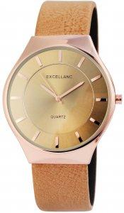 Armbanduhr Beige Rosé Kunstleder Excellanc 2910011