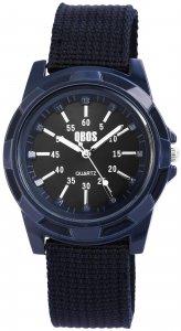 Armbanduhr Blau Textil QBOS 2900078