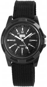 Armbanduhr Schwarz Textil QBOS 2900078