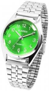 Armbanduhr Grün Silber Metall Classix 2800016
