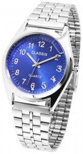 Armbanduhr Blau Silber Metall Classix 2800016
