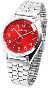 Armbanduhr Rot Silber Metall Classix 2800016