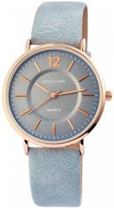 Armbanduhr Blau Rosé Kunstleder Excellanc 2910008