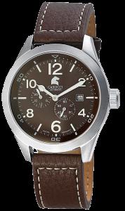 Armbanduhr Braun Silber Leder CARUCCI CA2202BR