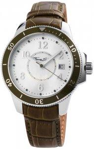 Armbanduhr Perlmutt Silber Grün Leder Thomas Sabo WA0124