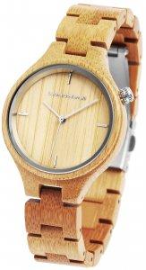 Armbanduhr Holz Braun Leonardo Verrelli 1800132