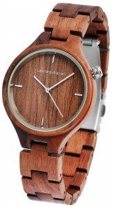 Armbanduhr Holz Braun Walnuss Leonardo Verrelli 1800132
