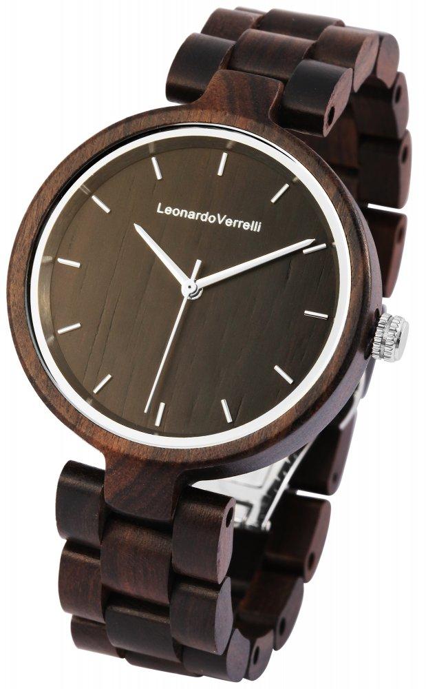 Armbanduhr Holz Braun Sandelholz Leonardo Verrelli 1800133