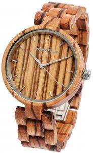 Armbanduhr Holz Braun Zebraholz Leonardo Verrelli 1800133