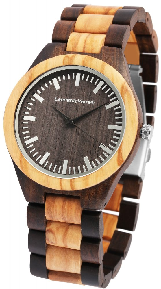 Armbanduhr Holz Braun Sandelholz Olive Leonardo Verrelli 2800038