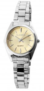 Armbanduhr Gold Silber Cutglas Metall Classix 1800104
