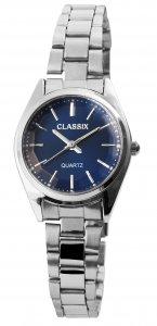 Armbanduhr Blau Silber Cutglas Metall Classix 1800104