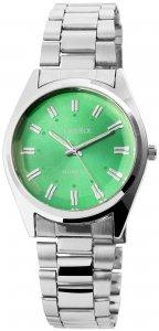 Armbanduhr Grün Silber Cutglas Metall Classix 2800015