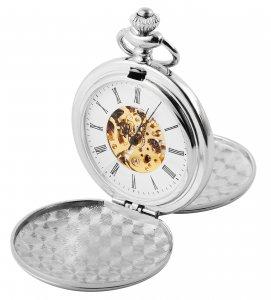 Taschenuhr Silber Metall Handaufzug Excellanc 4000021