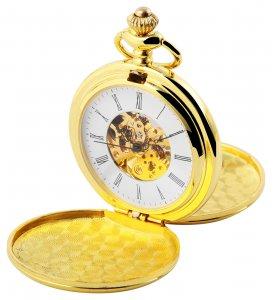 Taschenuhr Gold Metall Handaufzug Excellanc 4000021