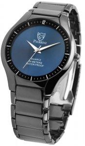 Armbanduhr Blau Schwarz Metall Pierrini 291073000001