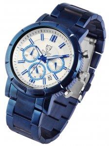 Armbanduhr Silber Blau Edelstahl Pierrini 291092500004