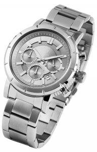 Armbanduhr Anthrazit Silber Edelstahl Pierrini 291021500004