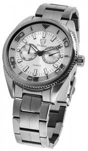 Armbanduhr Anthrazit Silber Edelstahl Pierrini 291077500005