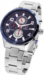 Armbanduhr Blau Silber Edelstahl Pierrini 291023000003