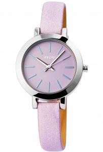 Armbanduhr Lila Silber Kunstleder 4YOU 250013002