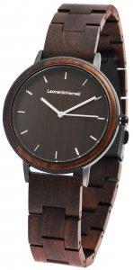 Armbanduhr Holz Braun Edelstahl Leonardo Verrelli 1800134-002
