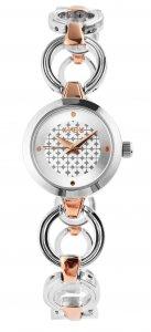 Armbanduhr Silber Rosé Edelstahl 4YOU 250012003