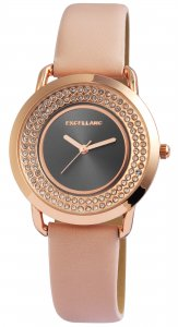 Armbanduhr Anthrazit Rosé Apricot Crystal Kunstleder Excellanc 1900143