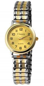Armbanduhr Gold Silber Metall Zugband Classix 1700011