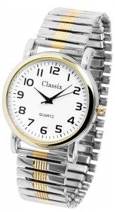 Armbanduhr Weiß Gold Silber Metall Zugband Classix 2700005-001