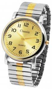 Armbanduhr Gold Silber Metall Zugband Classix 2700005-001