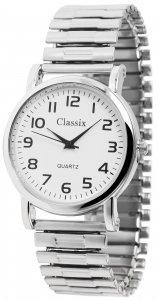 Armbanduhr Weiß Silber Metall Zugband Classix 2700008