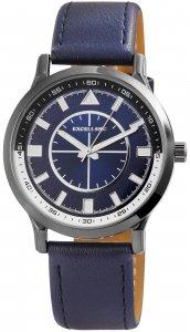 Armbanduhr Blau Silber Kunstleder Excellanc 2900111