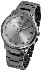Armbanduhr Grau-Silber Anthrazit Metall Excellanc 2800039