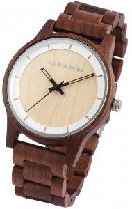 Armbanduhr Holz Beige Braun Walnuss Leonardo Verrelli 2800048