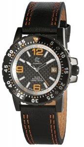 Armbanduhr Schwarz Orange Leder Automatik CARUCCI CA2184OR