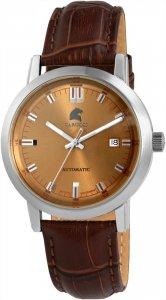 Armbanduhr Braun Silber Leder Automatik CARUCCI CA2195Br