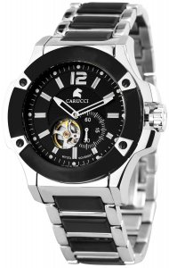 Armbanduhr Schwarz Silber CARUCCI Automatik CA2208BK