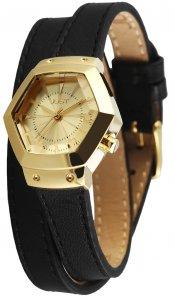 Armbanduhr Gold Schwarz Wickelarmband JUST JU10076