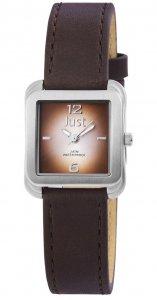 Armbanduhr Braun Silber Leder JUST JU10151