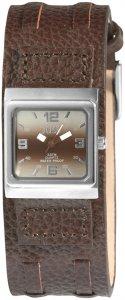Armbanduhr Braun Silber Leder JUST JU10155