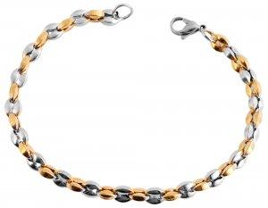 Armband Gold Silber Edelstahl 21cm Akzent 5030287