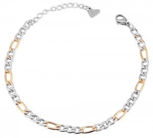 Armband Gold Silber Edelstahl 18-21cm Akzent 5030069