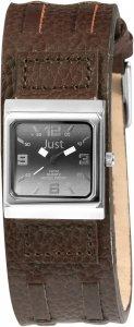 Armbanduhr Schwarz Silber Braun Leder JUST JU10155