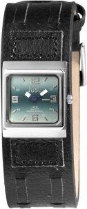 Armbanduhr Blau Silber Schwarz Leder JUST JU10155